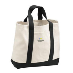 2-Tone Shopping Tote, InfinitePossibilities   ** TOE BAG DESIGNS WILL BE EMBROIDERED ON OPPOSITE SIDE SHOWN**